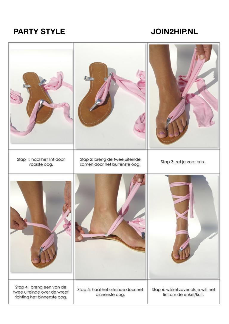Ibiza style sandalen vlechten